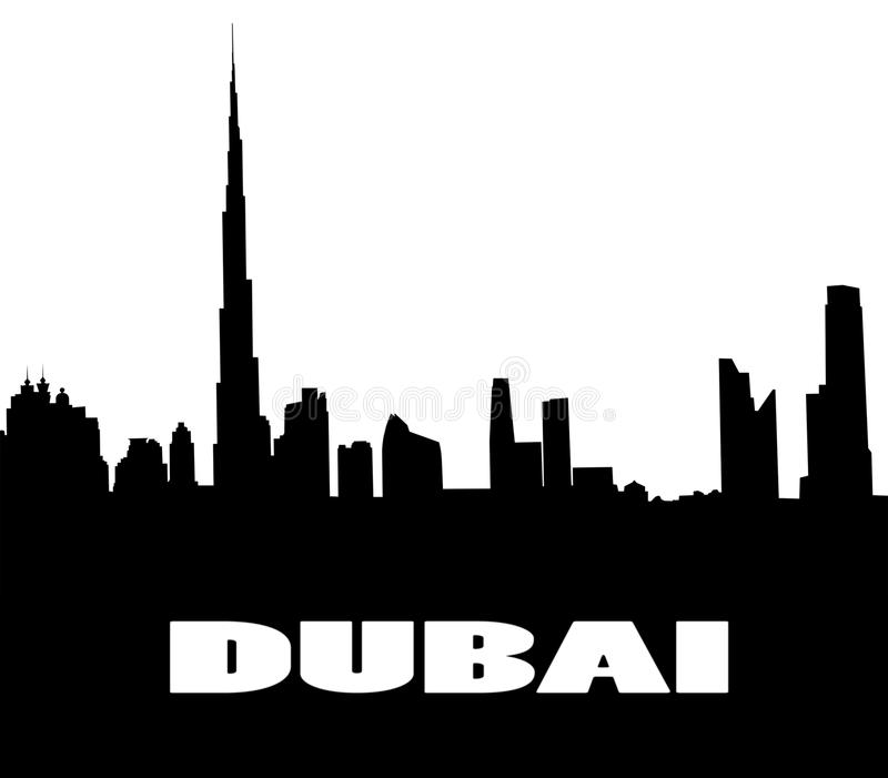 Silueta del Dubai libre illustration