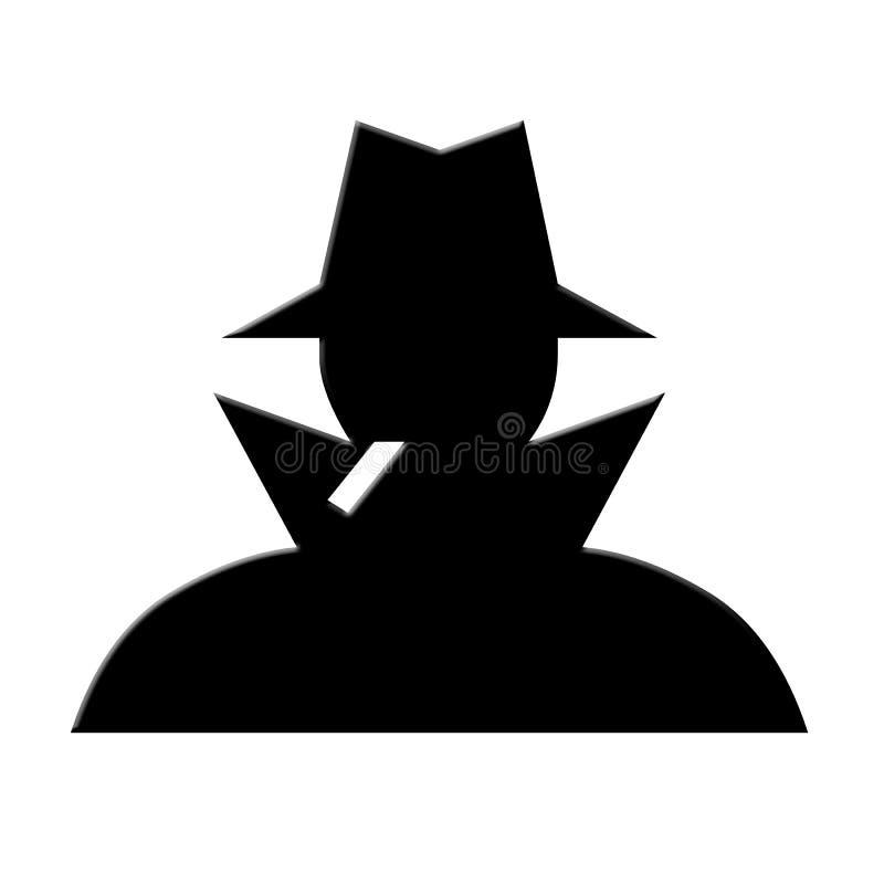 Silueta del espía imagen de archivo