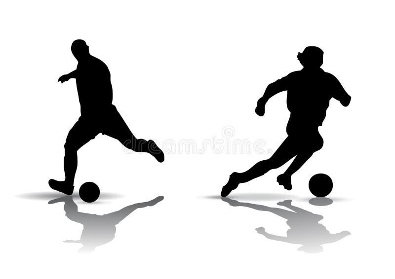 Silueta del fútbol stock de ilustración