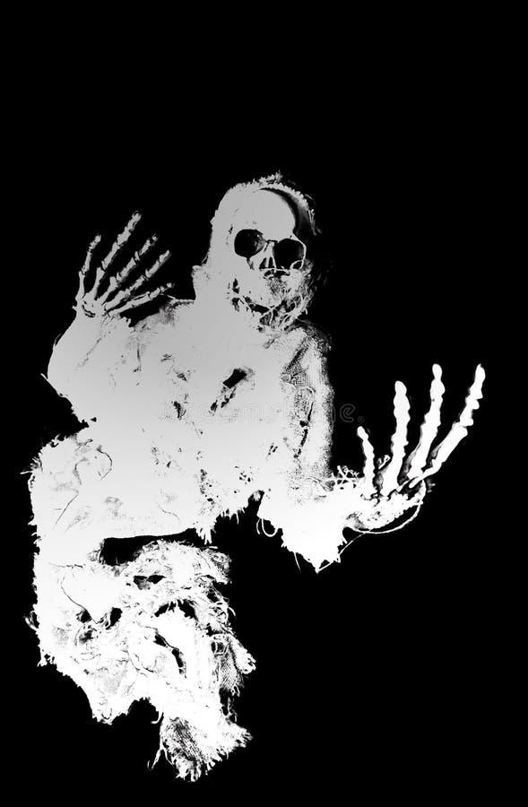 Silueta del fantasma stock de ilustración