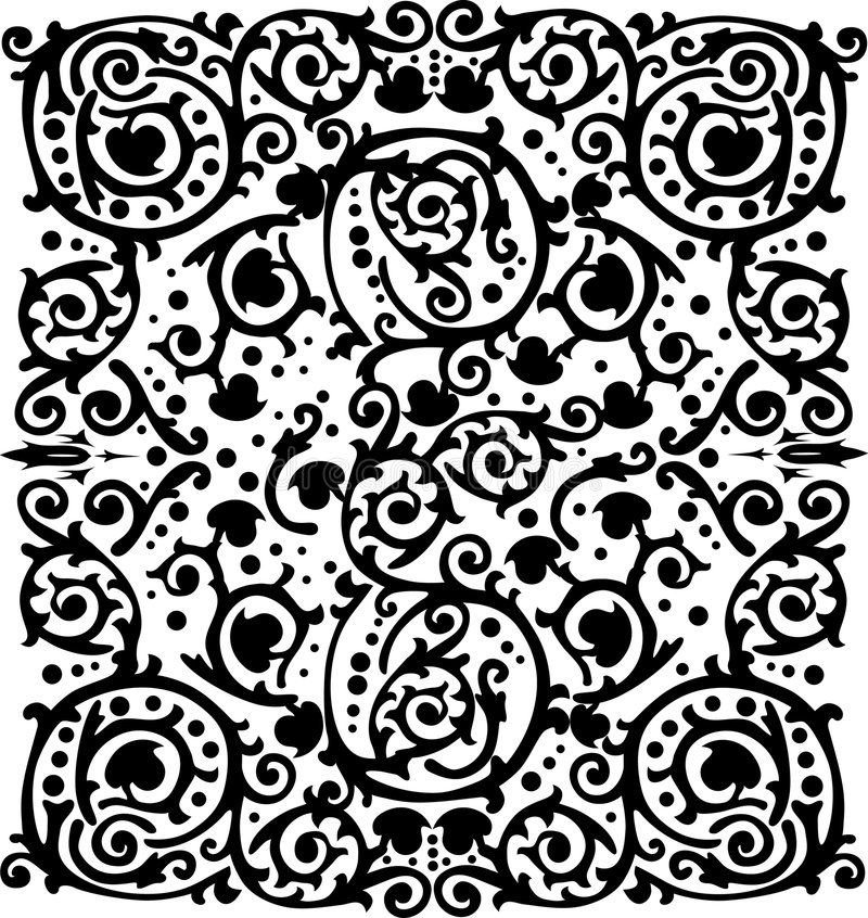 Silueta Del Fondo Negro Simétrico Fotografía de archivo libre de regalías