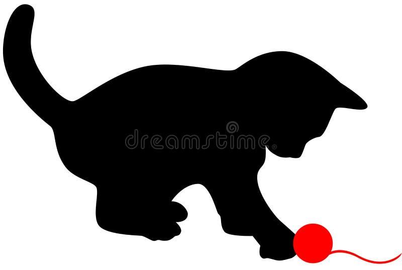 Silueta del gato stock de ilustración