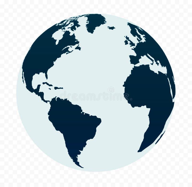 Silueta del globo ilustración del vector