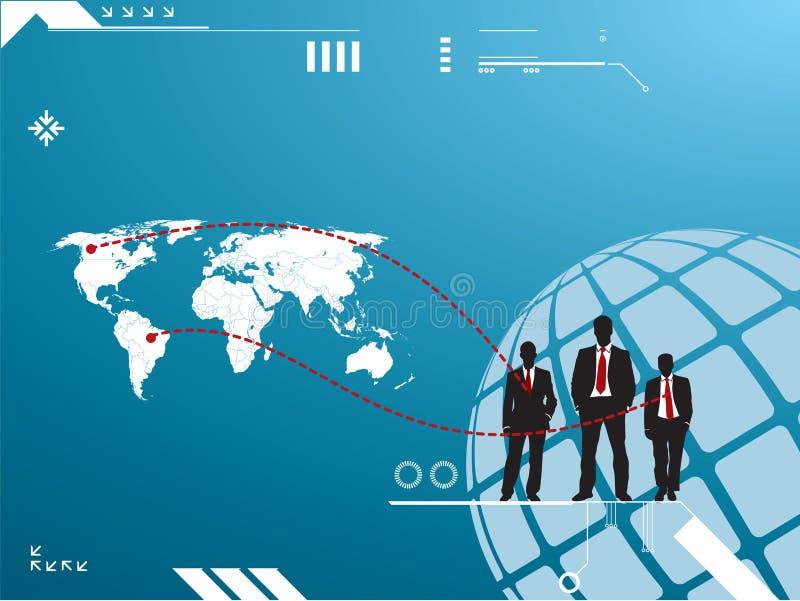 Silueta del grupo de hombres de negocios stock de ilustración