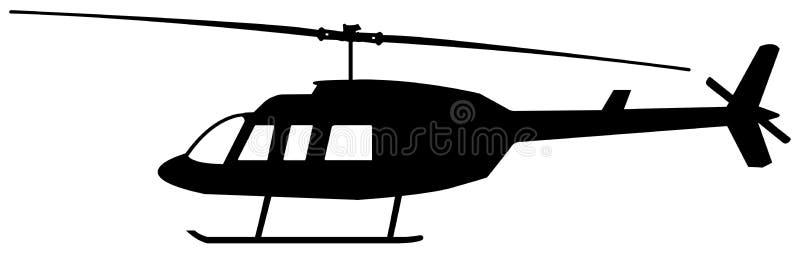 Silueta del helicóptero fotos de archivo libres de regalías