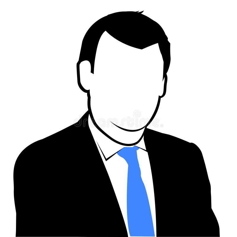 Silueta del hombre de negocios stock de ilustración
