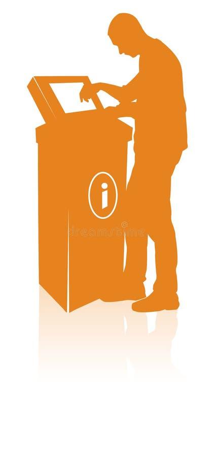 Silueta del hombre del quiosco libre illustration