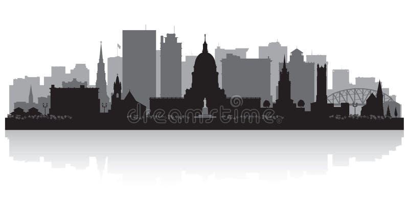 Silueta del horizonte de la ciudad de Charleston West Virginia stock de ilustración