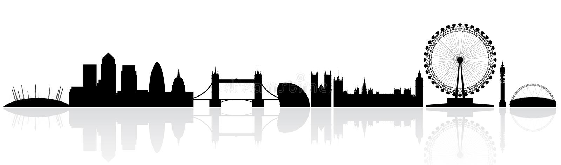 Silueta del horizonte de Londres ilustración del vector