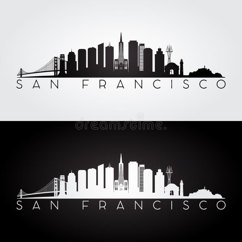 Silueta del horizonte de San Francisco libre illustration