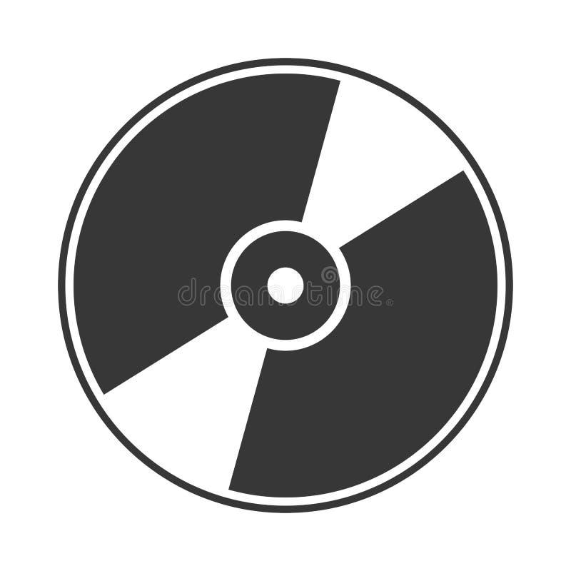 Silueta del icom cd ilustración del vector