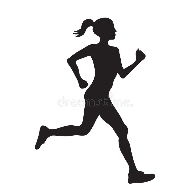 Silueta del icono negro simple del profilec corriente de la mujer, vector e ilustración del vector