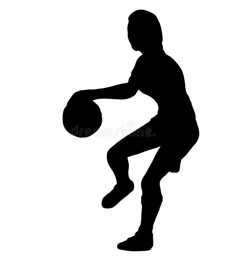 Silueta del jugador de básquet foto de archivo libre de regalías