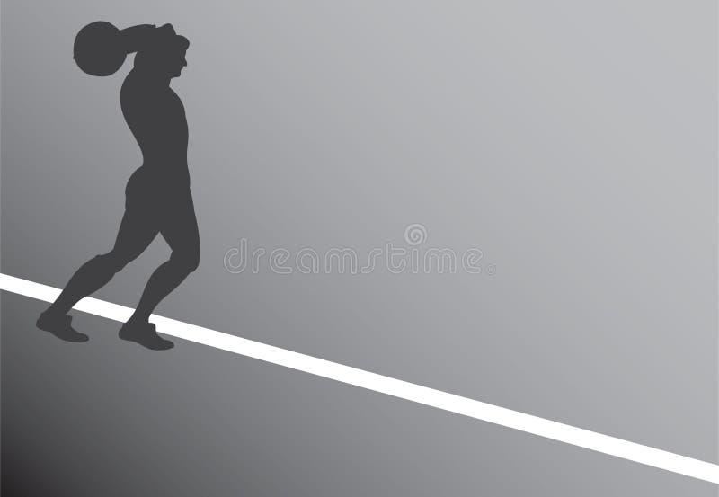 Silueta del jugador de fútbol ilustración del vector