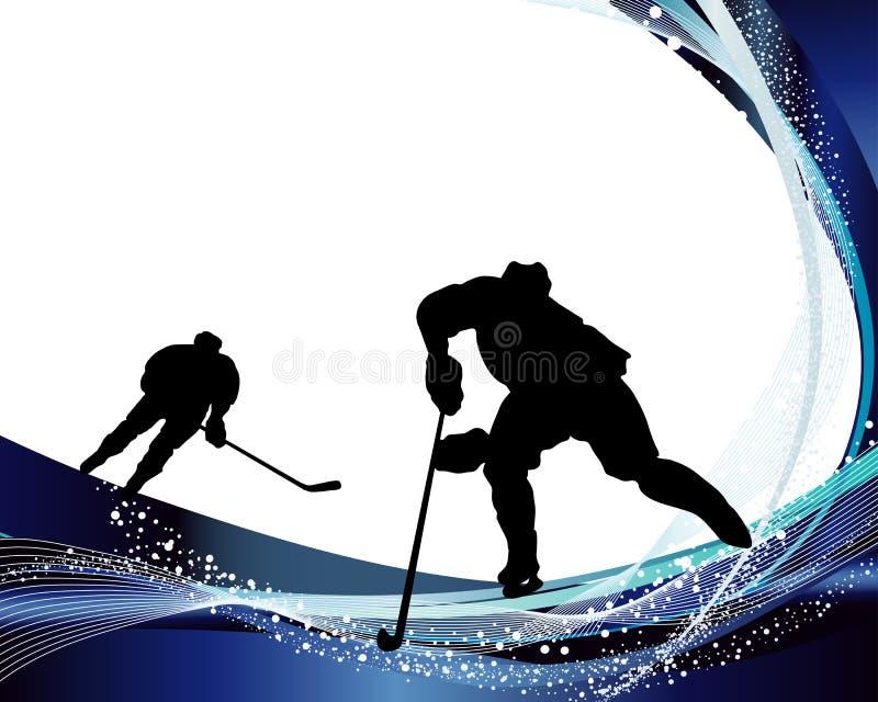 Silueta del jugador de hockey ilustración del vector