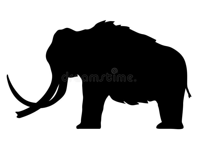 Silueta del mamut ilustración del vector