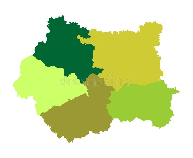 Silueta del mapa del vector de West Yorkshire en Yorkshire y el Humber, libre illustration