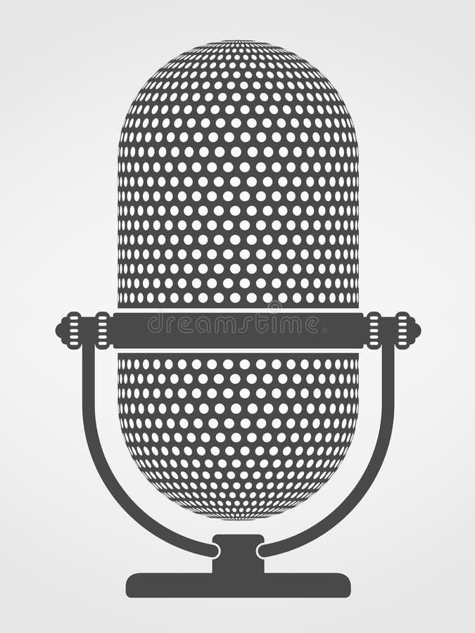 Silueta del micrófono stock de ilustración