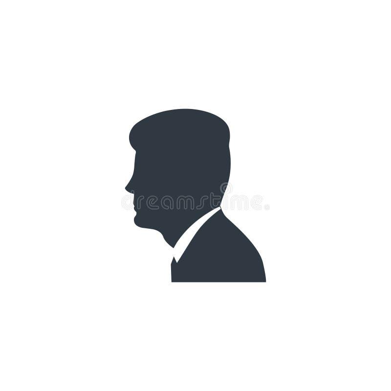 Silueta del negro de John Kennedy stock de ilustración