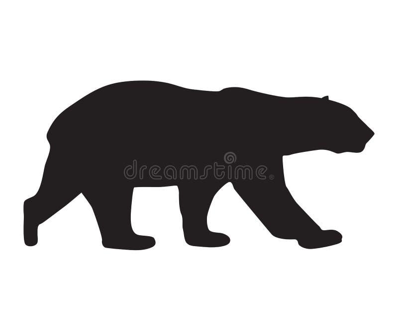 Silueta del negro del icono del oso libre illustration