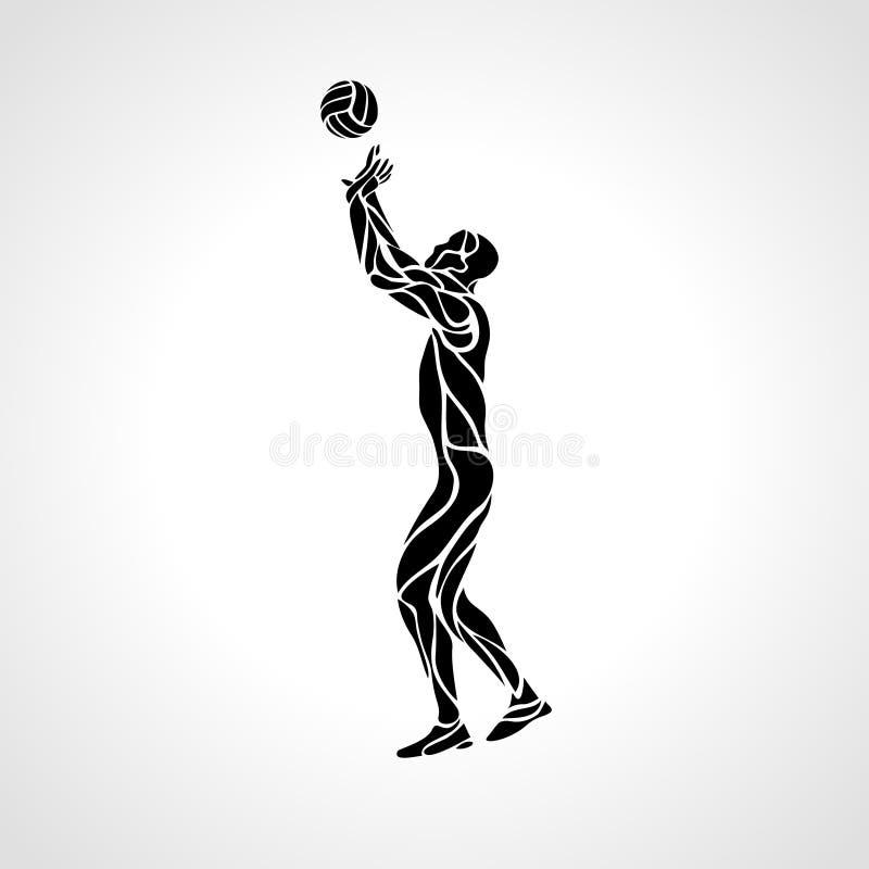 Silueta del organismo del voleibol, ejemplo del vector stock de ilustración