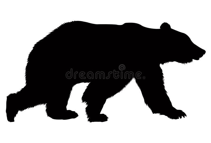 Silueta del oso fotos de archivo