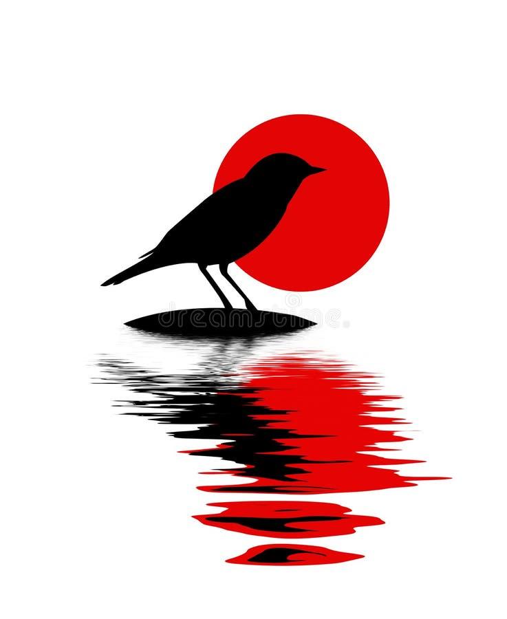 Silueta del pájaro stock de ilustración