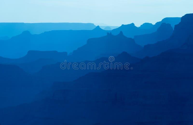 Silueta del parque nacional del Gran Cañón en la puesta del sol. imágenes de archivo libres de regalías