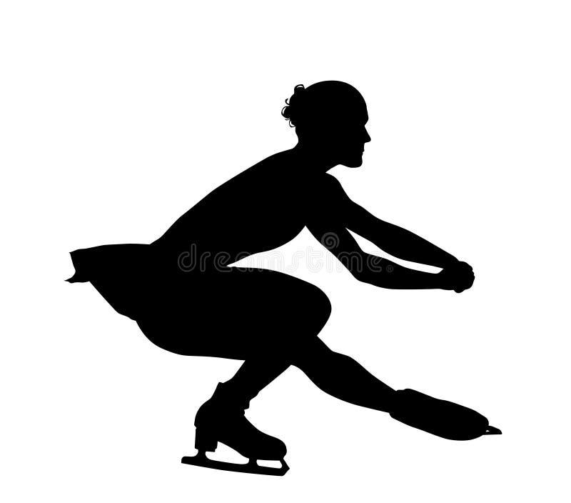 Silueta del patinaje artístico fotos de archivo