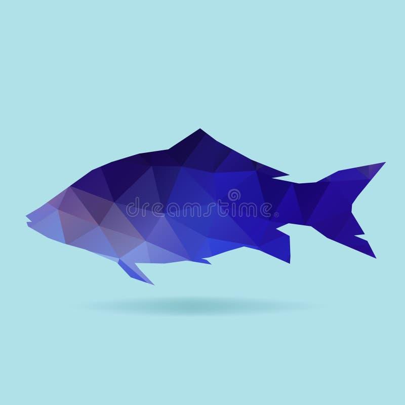 Silueta del polígono de los pescados ilustración del vector
