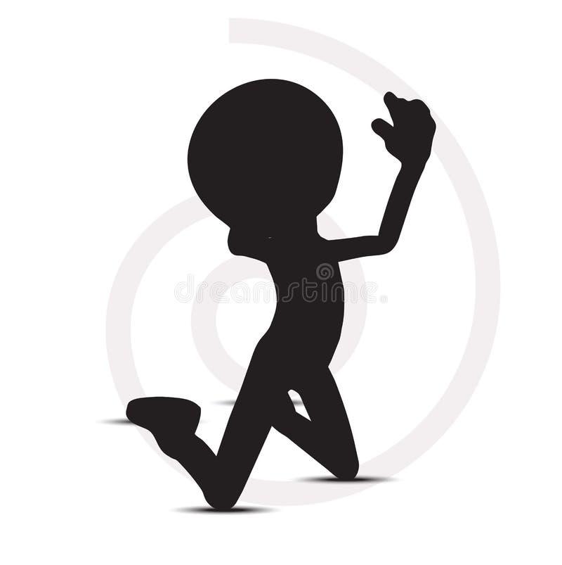silueta del rezo del hombre 3d libre illustration