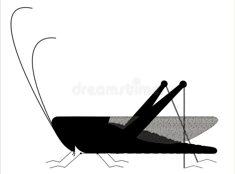Silueta del saltamontes libre illustration
