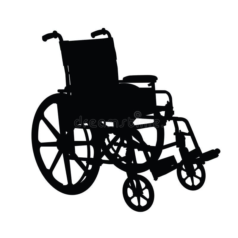 Silueta del sillón de ruedas ilustración del vector