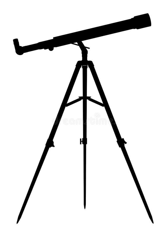Silueta del telescopio stock de ilustración