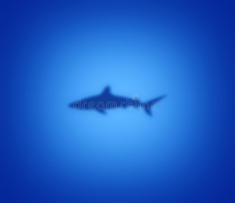 Silueta del tiburón en azul libre illustration