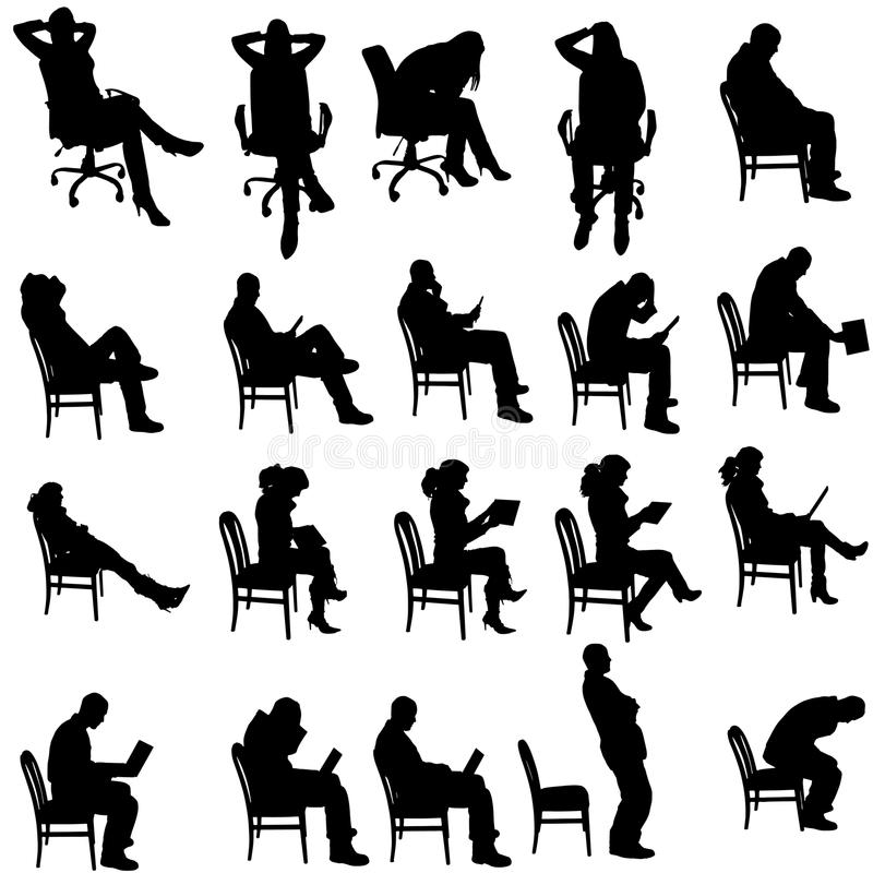 Silueta del vector de la gente ilustración del vector