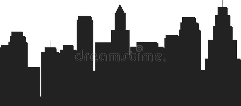 Silueta del vector de la historieta - negro fotos de archivo