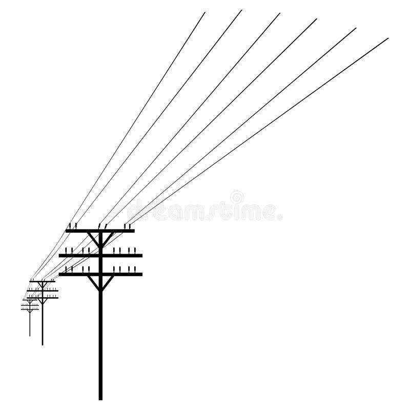 Silueta del vector de la línea eléctrica libre illustration