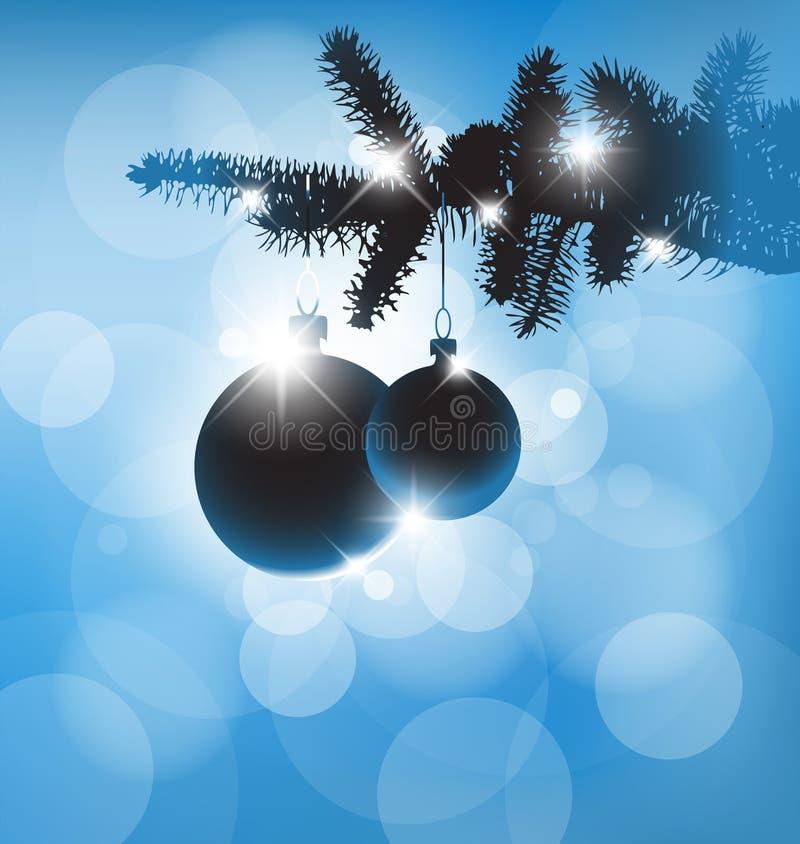 Silueta del vector de las decoraciones de una Navidad libre illustration