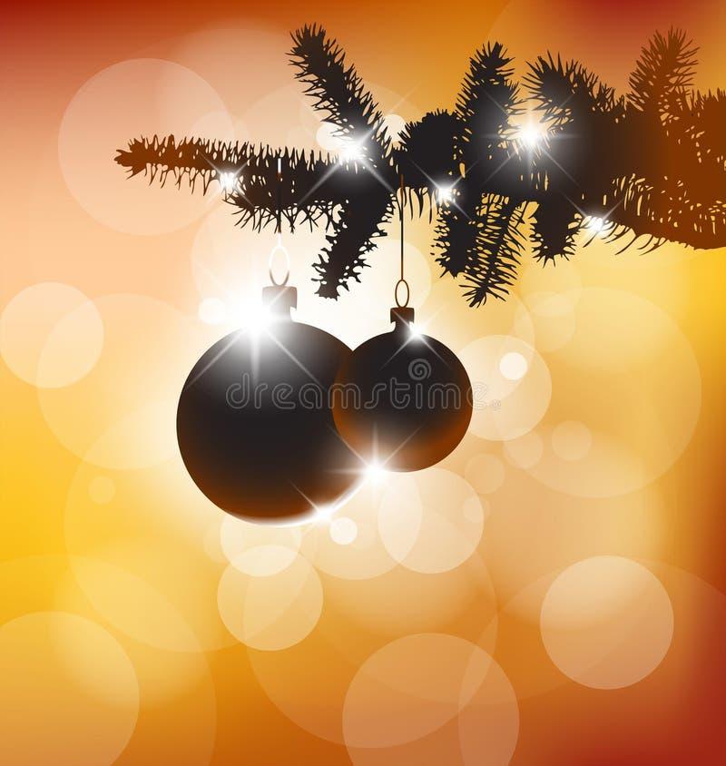 Silueta del vector de un árbol de navidad stock de ilustración