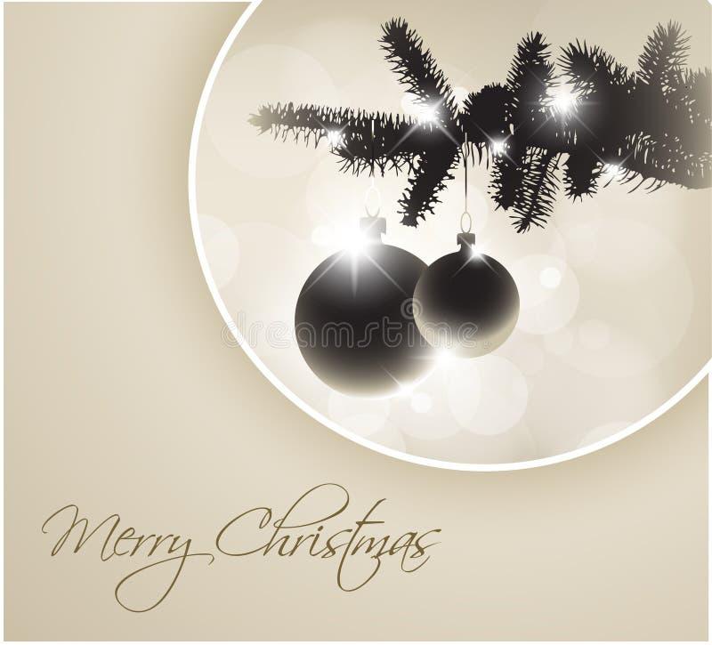 Silueta del vector de un árbol de navidad libre illustration