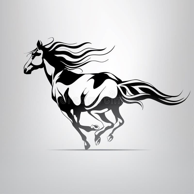 Silueta del vector de un caballo corriente libre illustration