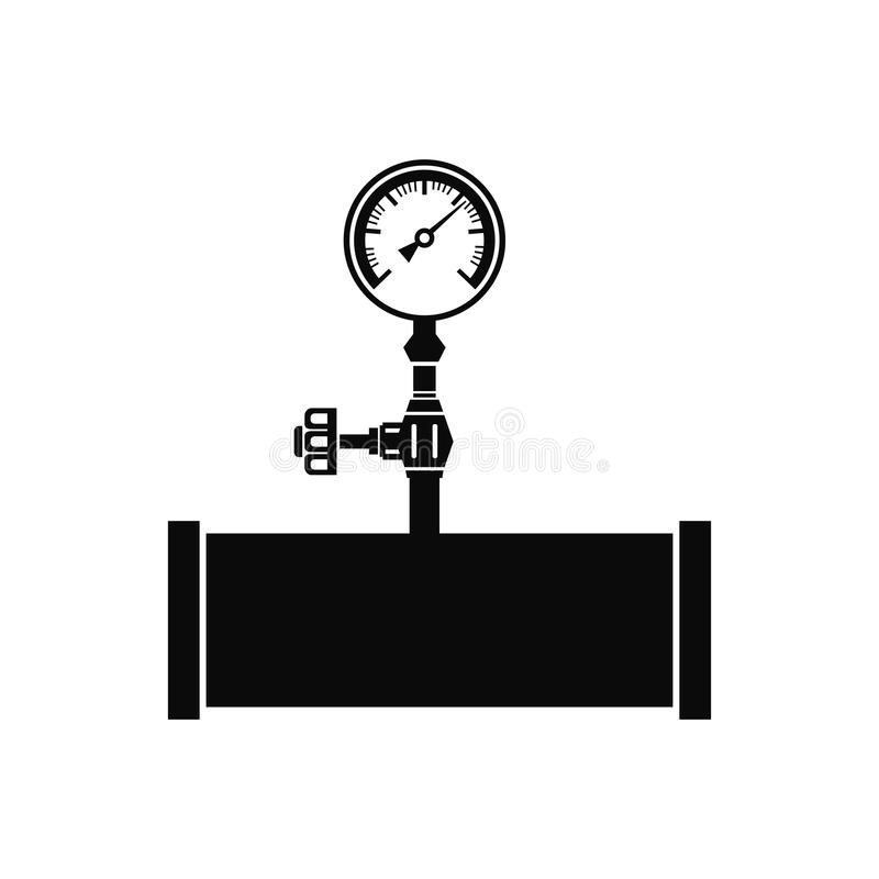 Silueta del vector del manómetro libre illustration