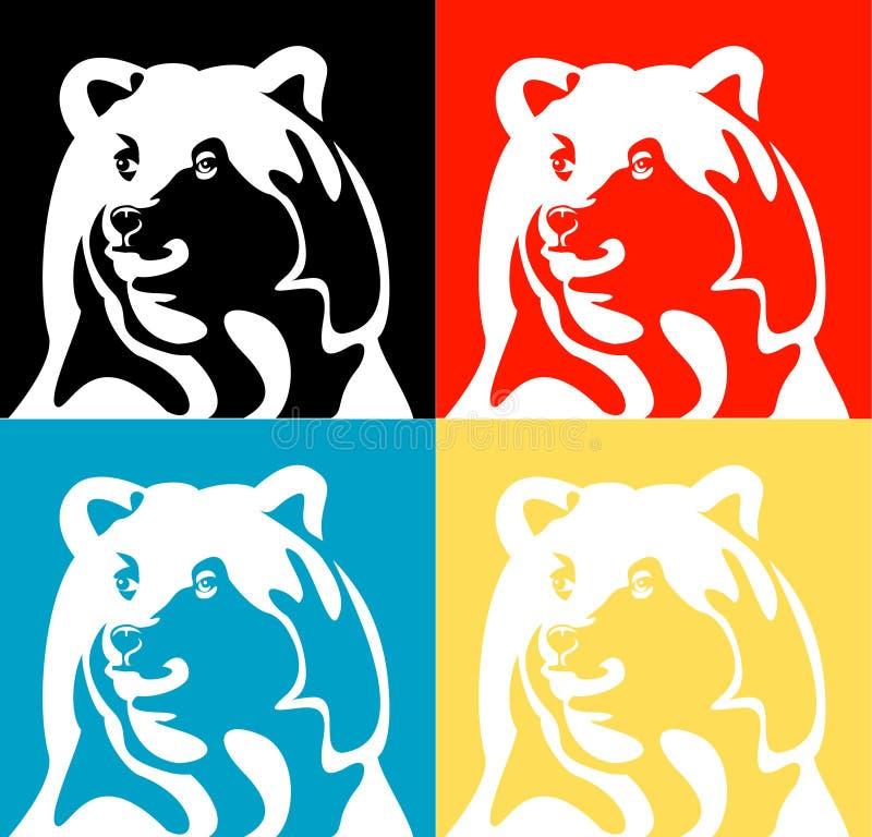 Silueta del vector del oso fotos de archivo