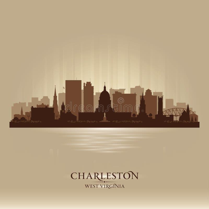 Silueta del vector del horizonte de la ciudad de Charleston West Virginia libre illustration