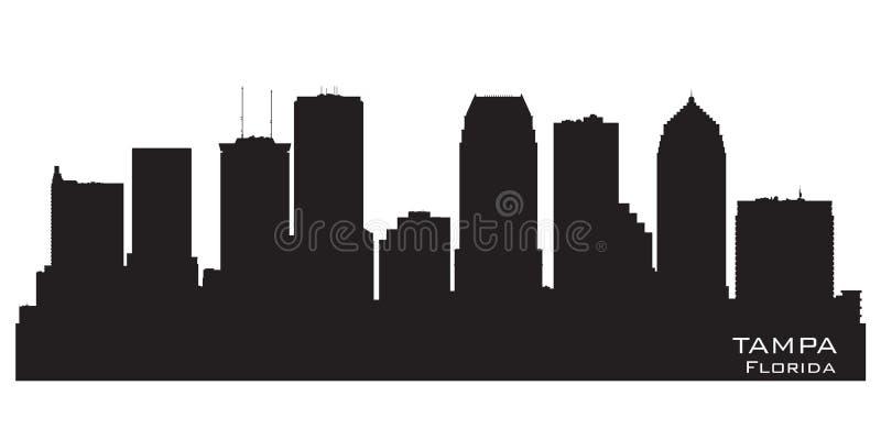 Silueta del vector del horizonte de la ciudad de Tampa la Florida stock de ilustración