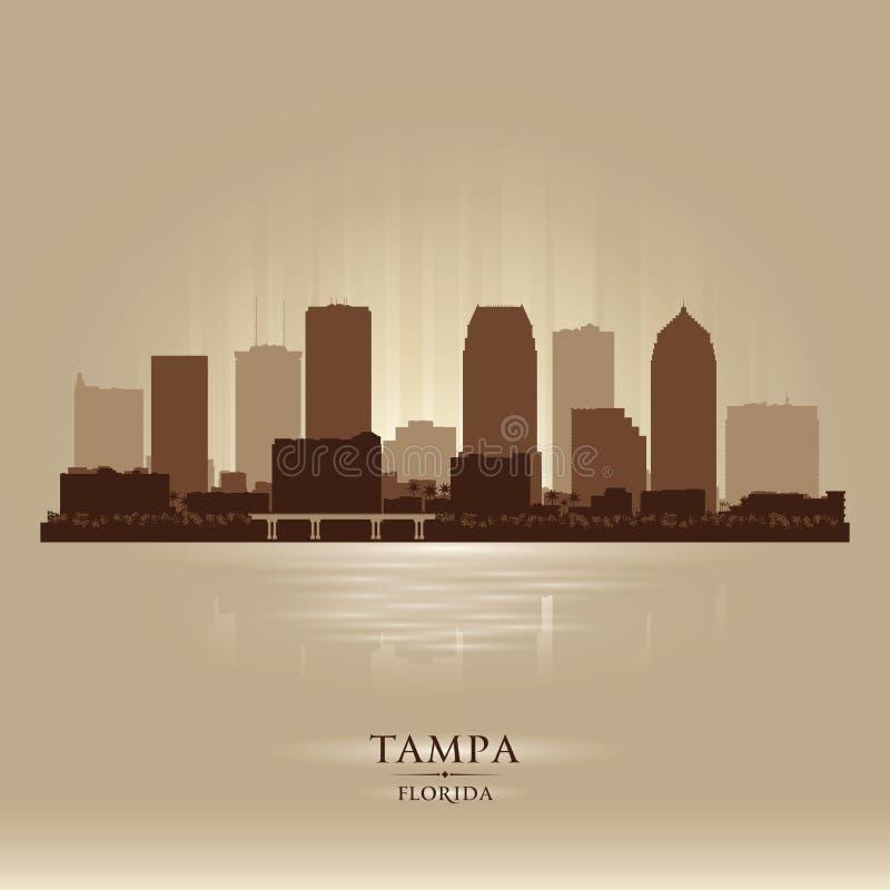 Silueta del vector del horizonte de la ciudad de Tampa la Florida libre illustration