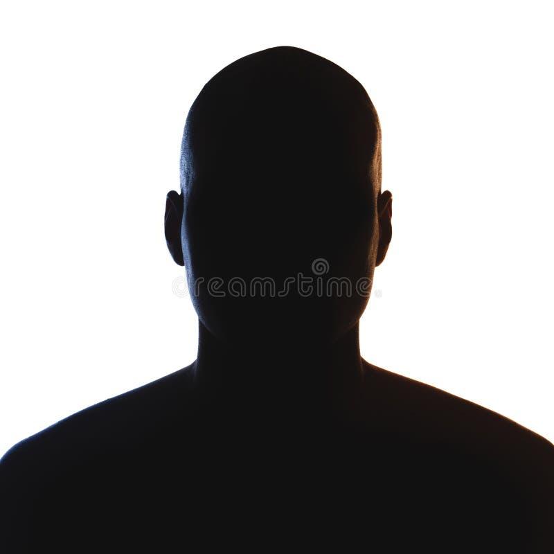 Silueta desconocida de la persona masculina fotos de archivo libres de regalías