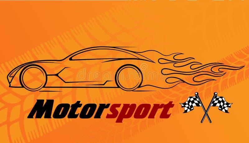 Silueta dinámica del coche, temas automotrices del logotipo libre illustration