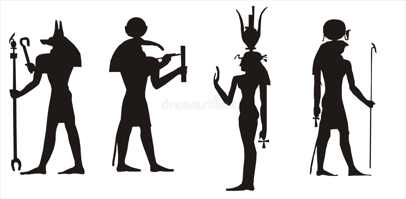 Silueta egipcia de dioses libre illustration